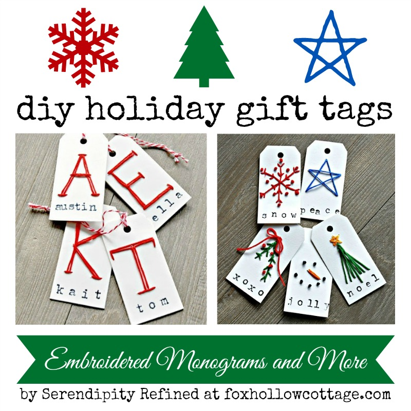 Christmas holiday personalized monogram gift tag craft for Diy monogram gifts