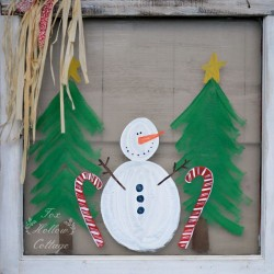 Diy Christmas Window Art Snowman