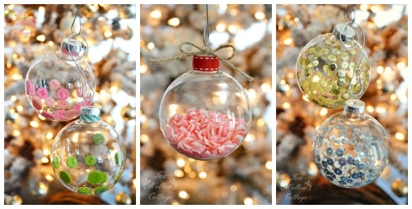 Diy Clear Glass Christmas Tree Ornament Craft Tutorials