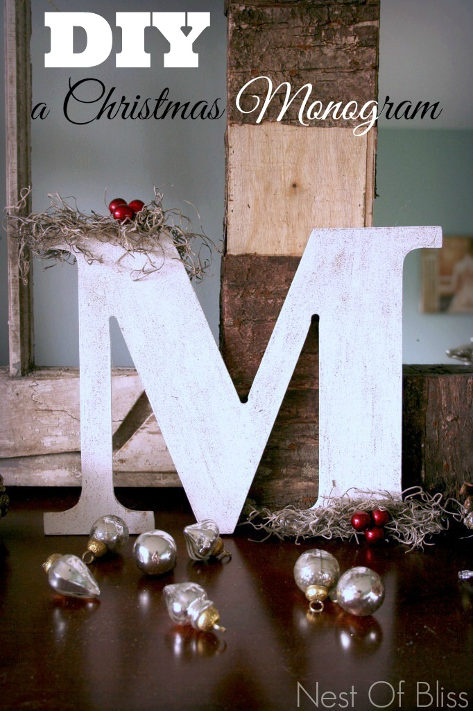 Diy a Monogram Christmas Craft