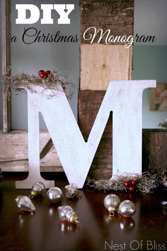 Diy a Monogram Christmas Craft