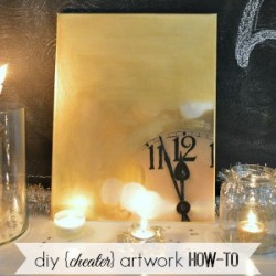 Diy Home Decor: Cheater Art Tutorial