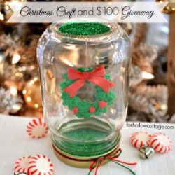 Make A Dollar Tree Mason Jar Christmas Snow Globe