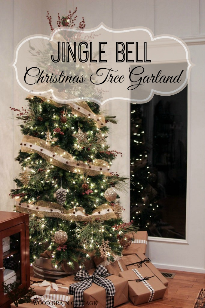 Make a Jingle Bell Christmas Tree Garland