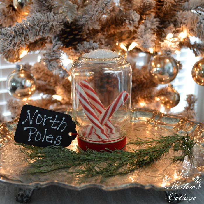 Mason Jar Candy Cane Christmas Decoration