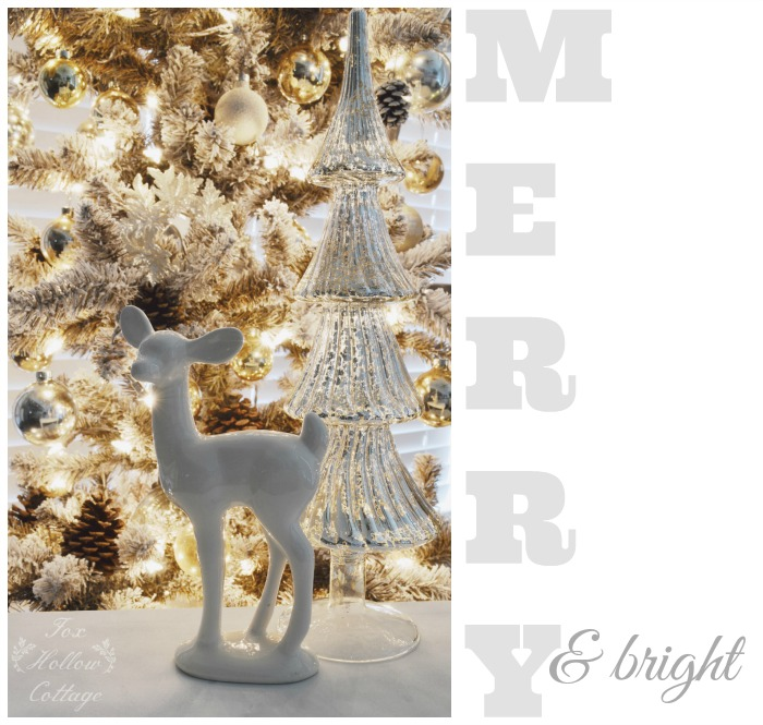 Mixed Metals Christmas Decor with HomeGoods