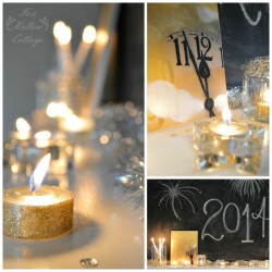 Mixed Metals New Year's Eve Mantel Decorating Ideas