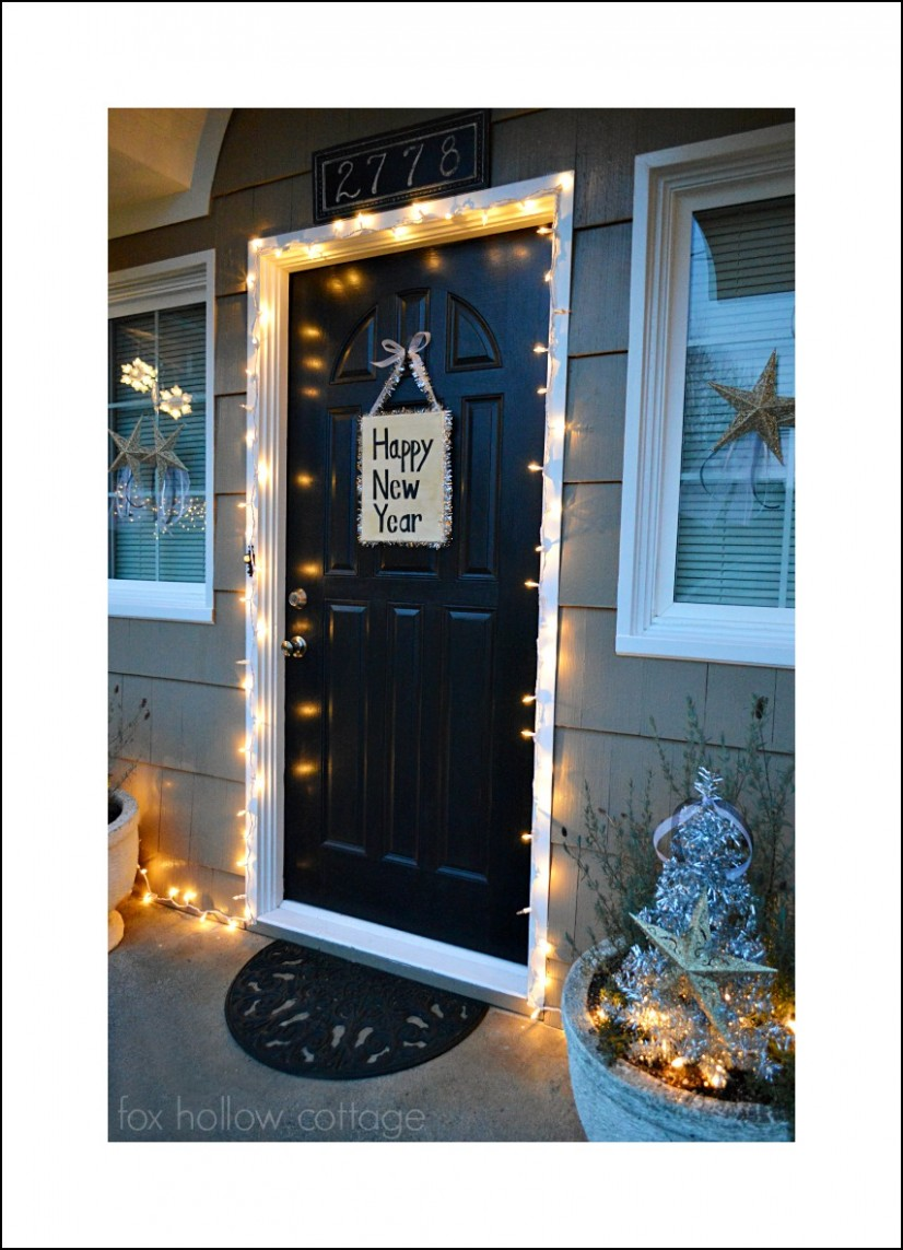 DIY New Years Eve Front Porch - Simple #Newyearseve #decoratingideas
