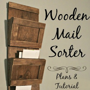 Wooden Mail Sorter DIY Plans and Tutorial 300