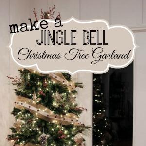 Make a jingle bell christmas tree garland fox hollow cottage for Garland christmas tree craft