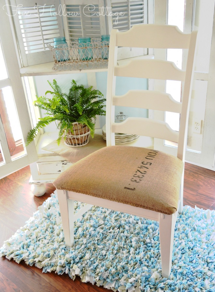 Painted Furniture Coffee Sack Upholstery Makeover