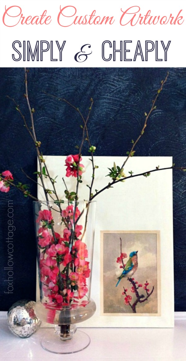 Super easy diy custom art! Anyone can do this. #diyhomedecor #diyart