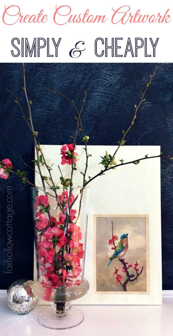 Spring Bird Art: Diy Custom Home Decor