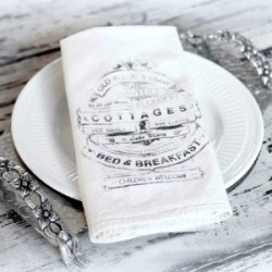Diy dinner napkin - image transfer method tutorial fi