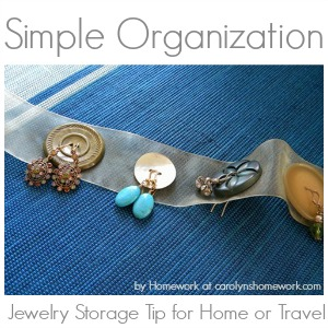 Earring Jewelry Button Organization Storage Travel Tip Idea fi