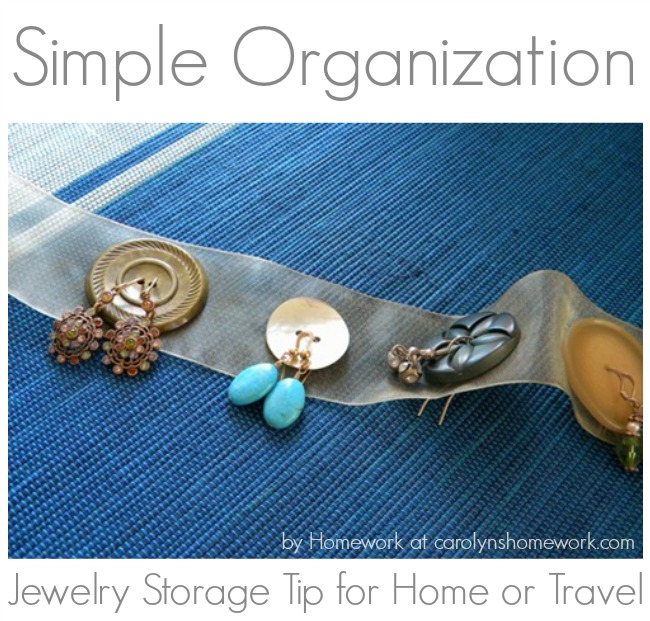 Earring Jewelry Button Organization Storage Travel Tip Idea