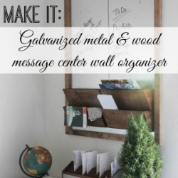 Galvanized Metal Wood Wall Organizer Message Board - Diy tutorial 300