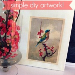 Spring Bird Art: diy custom home decor