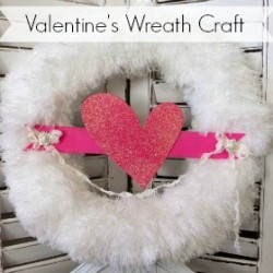 Valentine's Day Diy Fluffy Glitter Heart Wreath