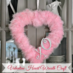 Valentines Day Wreath Craft Feather Heart fi