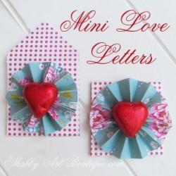 mini love letter valentines day diy craft