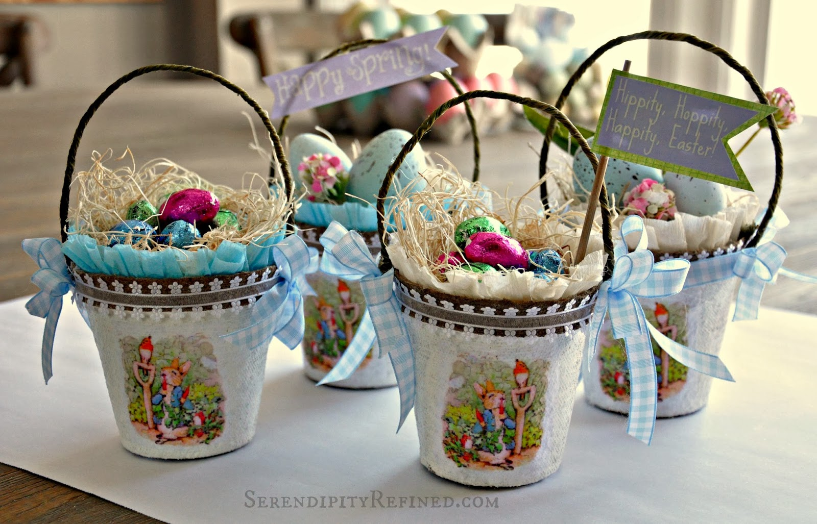 A Diy Spring Craft: Peter Rabbit Easter Egg Basket