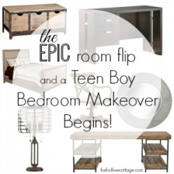 EPIC Room Flip: Beginning a Teen Boy's Bedroom Makeover
