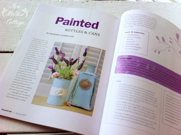 Green Crafts Magazine February 2014 Fox Hollow Cottage