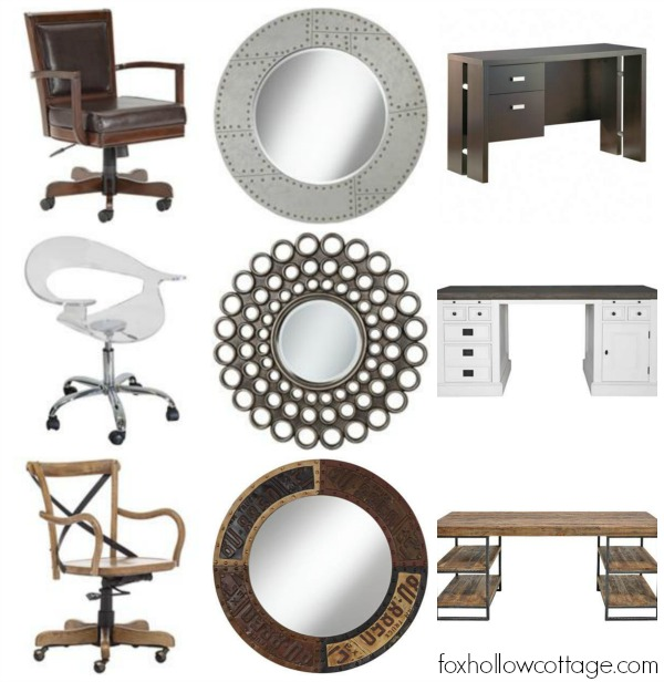 Office Furniture Decor - Rustic Industrial Sleek Modern Eclectic