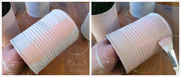 Shabby Pink Tin Can Craft - Repurpose Upcycle 9