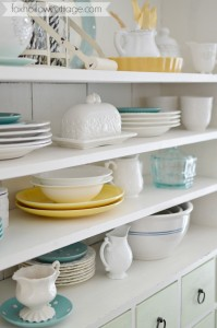 Sun Room Painted Furniture - Kitchen Dish Storage