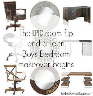 Teen Boys Bedroom Makeover Ideas PLUS Room Flip Details