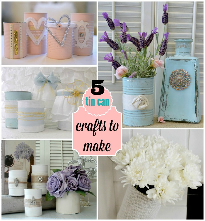 5 Tin Can Crafts to Make - Home Decor Accents #tincan Upcycle - Recycle - Repurpose