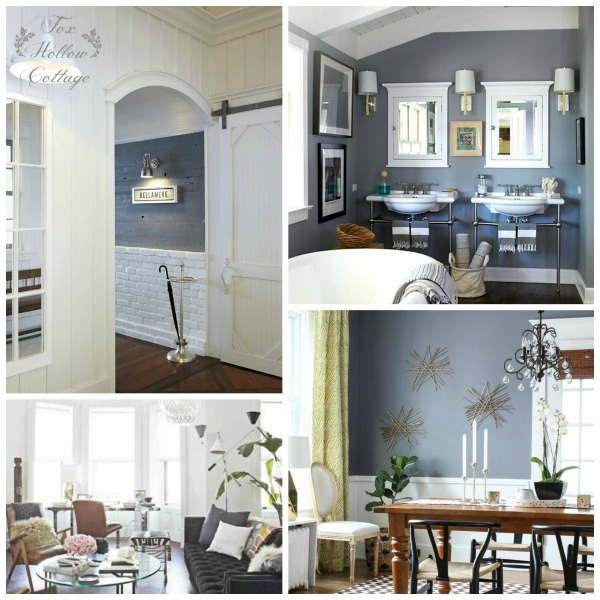 Decorating with Grey Gray - Entryway Vintage Bathroom Living Office Dining Room