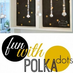 Fun With Polka Dots In The Kitchen {a cottage update}