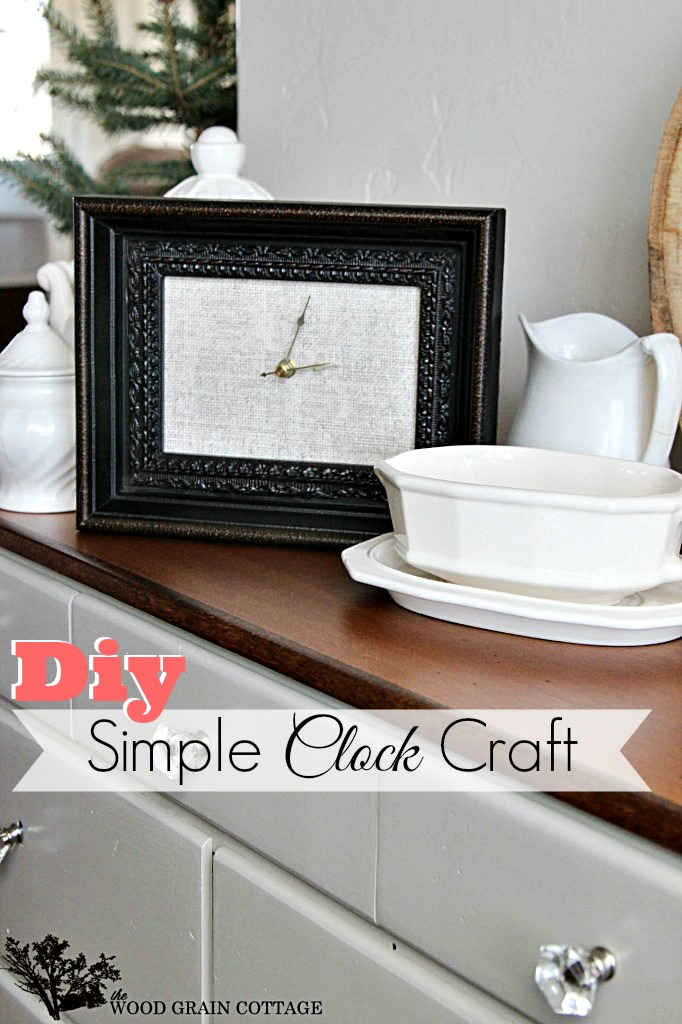 Make It A Picture Frame Clock Craft Fox Hollow Cottage