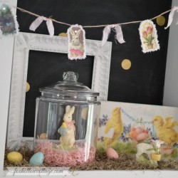 Spring at the Cottage – Decorating with Vintage Easter Bunnies