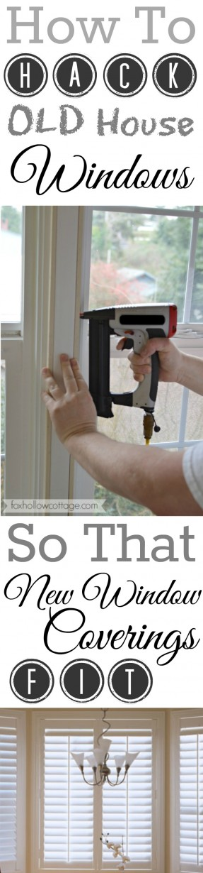 How To Make NEW Plantation Shutters Fit OLD House Windows Diy Hack