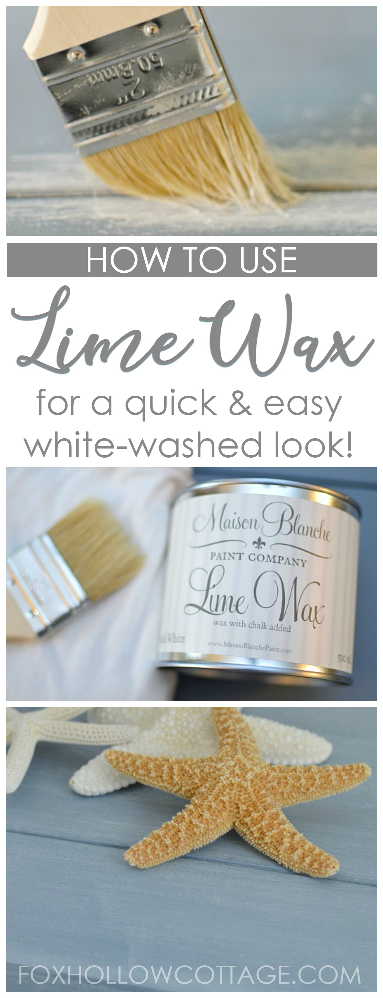 How To Use Lime Wax - Chalk White Paint DIY Painted Furniture Makeover