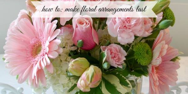 Make Cut Flower Floral Arrangements Last Longer