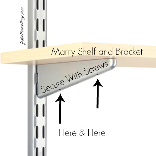Shelf Track And Bracket Wall Storage System