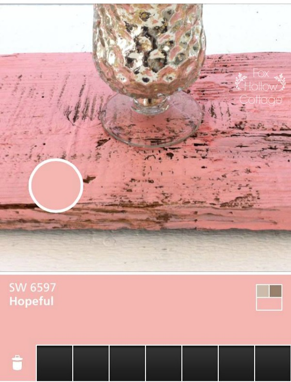 Sherwin Williams Hopeful Pink Coral Matte Paint - Matched with ColorSnap