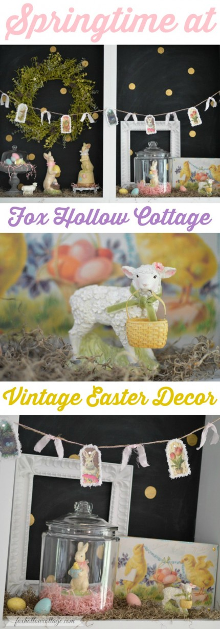 Springtime at Fox Hollow Cottage - Vintage Easter Decorating with @Command #DamageFreeDIY