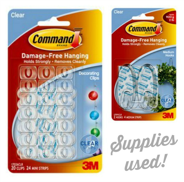 Supplies Used - @Command Decorator Clips and Medium Clear Hook | #DamageFreeDIY