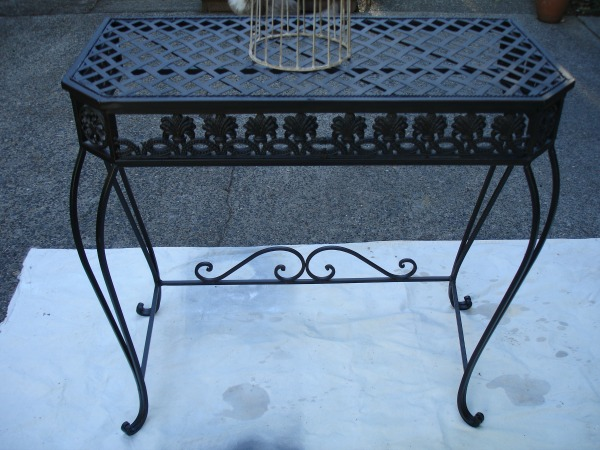 black before iron table
