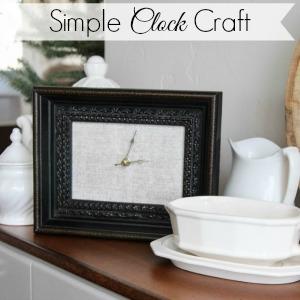 diy clock picture frame craft