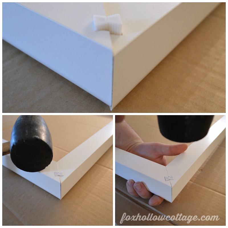 Easy diy plantation shutter installation fox hollow cottage for Should plantation shutters match trim