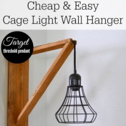 DIY home decor - make a wood cage light wall hanger 300x