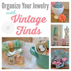 More Jewelry and Accessory Organization Ideas – Use Vintage Finds!