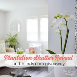 Our Cottage Home and New Plantation Shutters from blinds.com
